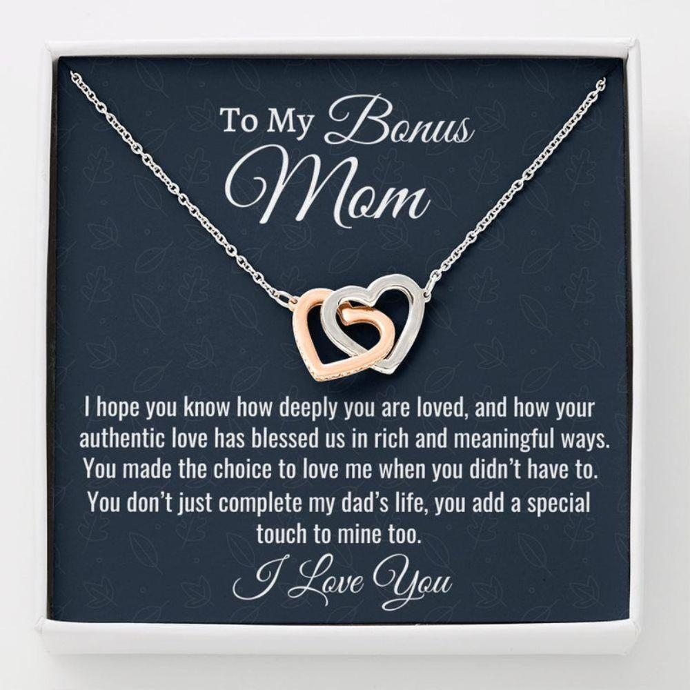Stepmom Necklace, Gift For Bonus Mom, Stepmom Gift, Necklace Birthday Gift For Stepmom From Stepdaughter Stepson