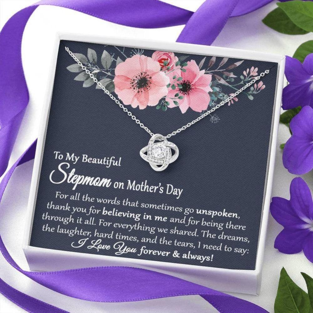 Stepmom Necklace, Stepmom Gift Mothers Day, Mothers Day Gift For Stepmom, Stepmom Gift On Card For Mother's Day, Stepmother Necklace