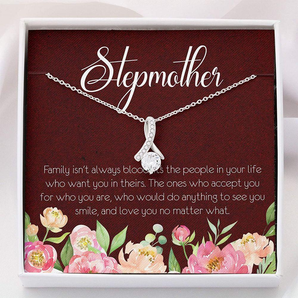 Stepmom Necklace, Stepmother Necklace - Gifts Stepmom Necklace - Alluring Beauty Necklace With Gift Box