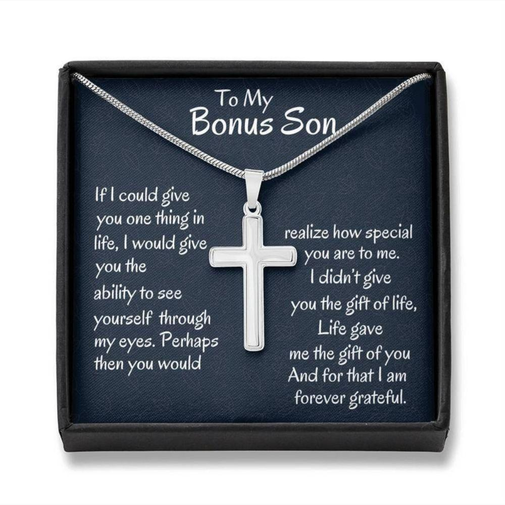 Stepson Necklace, Stepson Gift, Bonus Son Gift, Birthday Gift, Stepmom Present For Stepson Son In Law