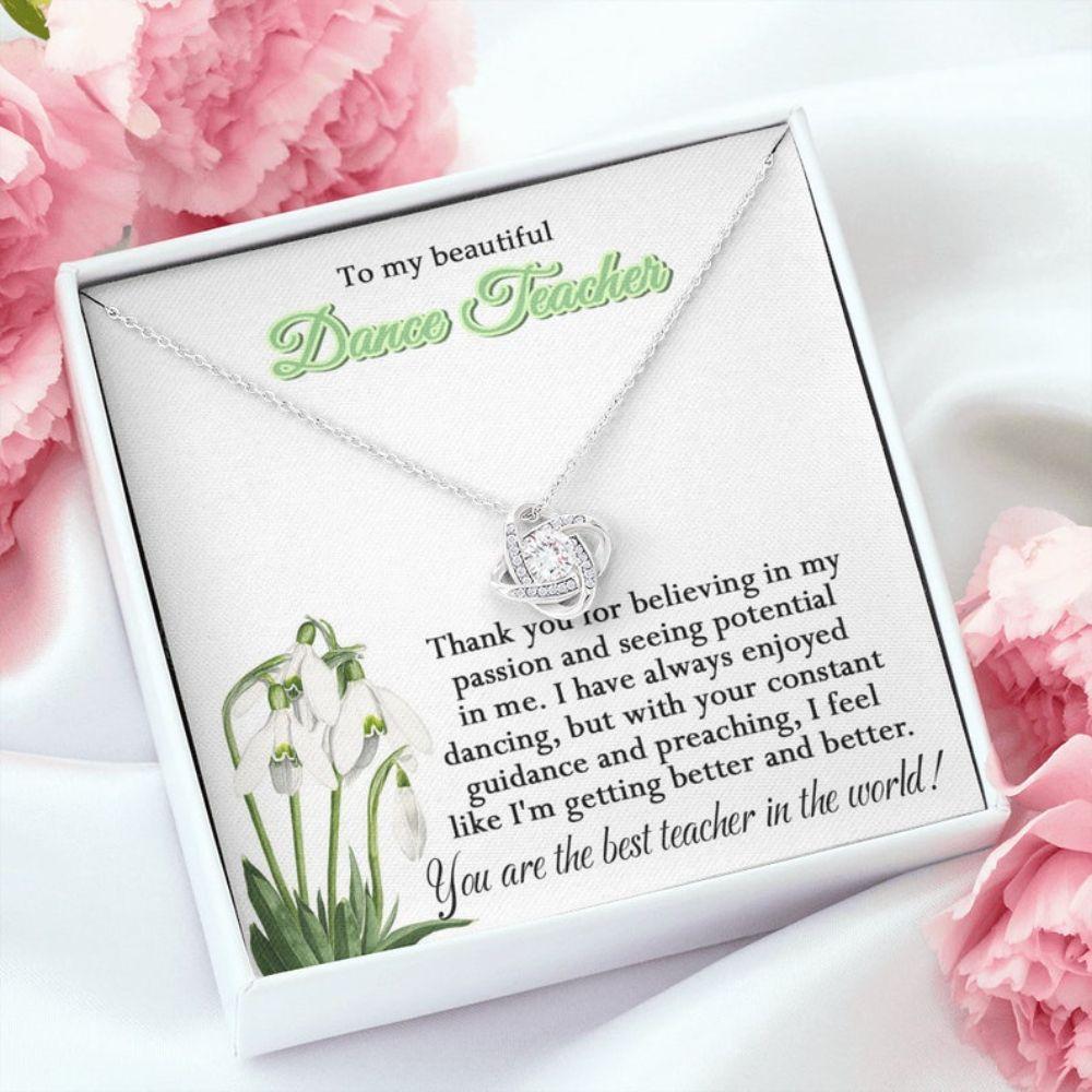 Teacher Necklace, Dance Teacher Necklace, Gift For Dance Teacher, To My Beautiful Dance Teacher Gift