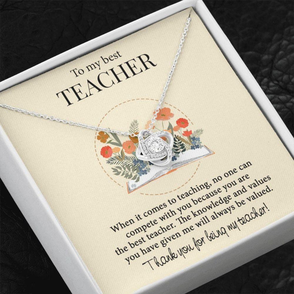 Teacher Necklace, Gifts Necklace For Teacher, Teacher Thank You Gift, Appreciate Gift For Female Teacher