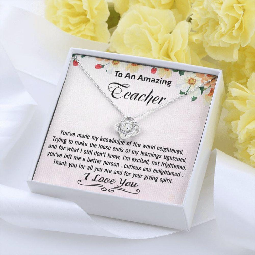 Teacher Necklace, Teacher Appreciation Gift, Teacher Jewelry, Gifts For Teacher, Teacher Thank You