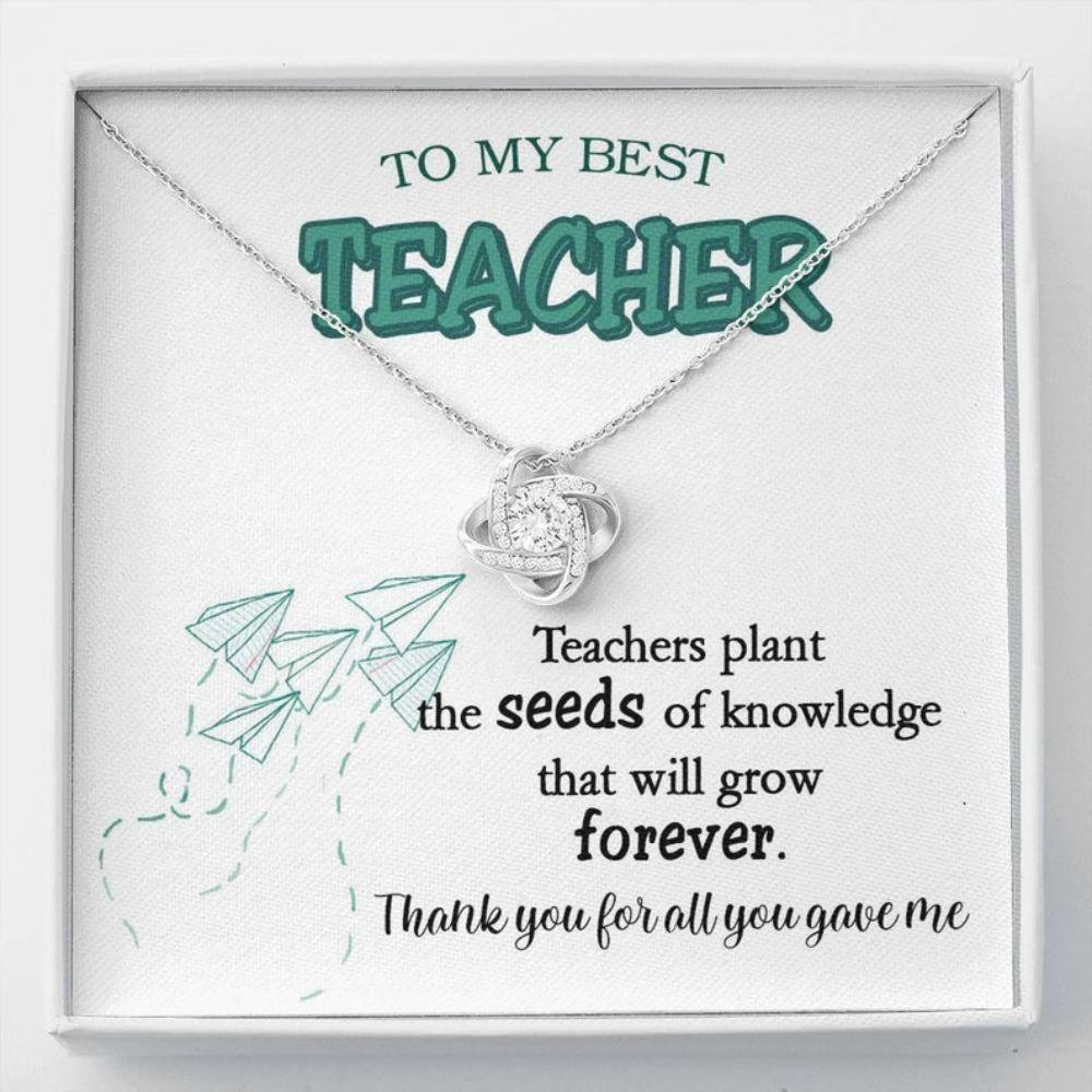 Teacher Necklace, Teacher Gift, Teacher Jewelry, To My Best Teacher Necklace, Gift For My Teacher