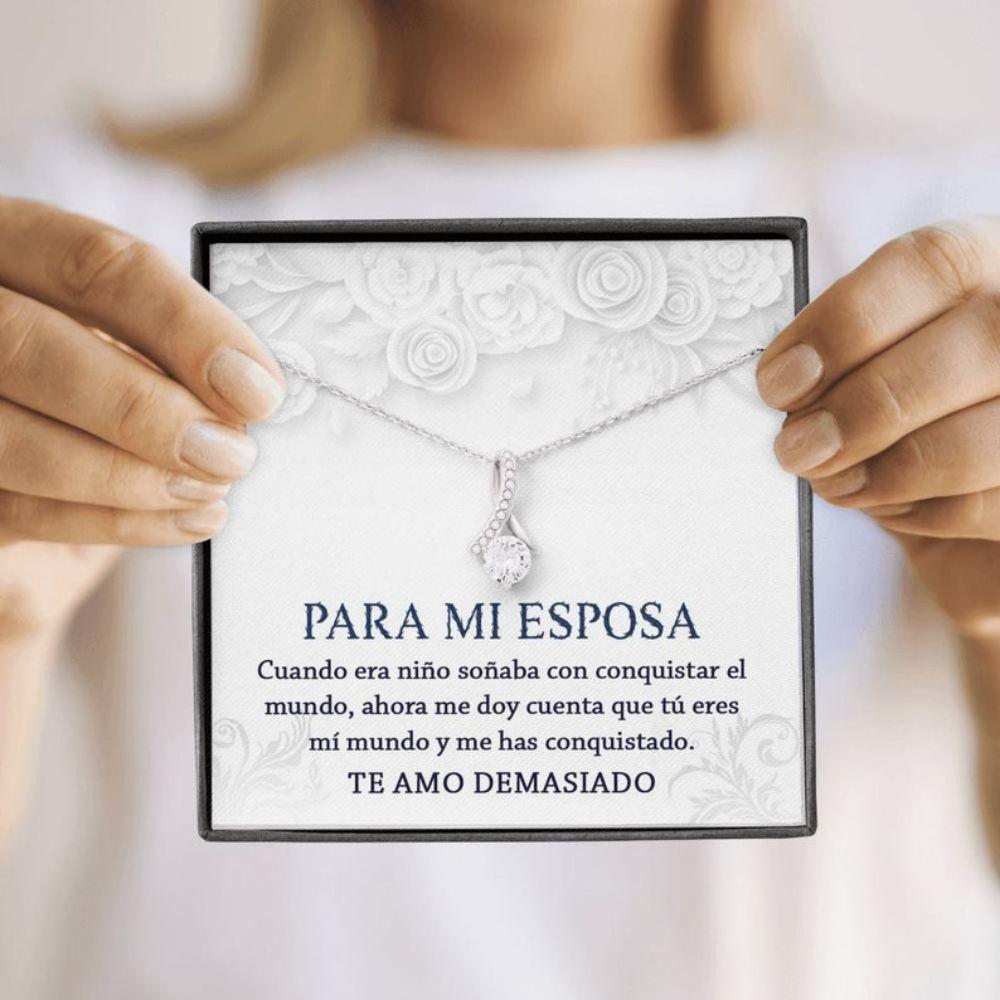 Wife Necklace, Esposa Collar, Regalo Para Esposa De Esposo, Regalo De Esposa Cumplea�os, Regalo De Aniversario Para Esposa