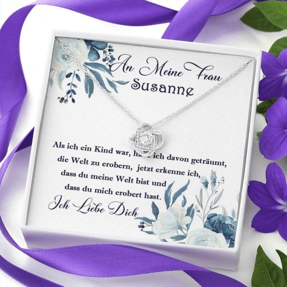 Wife Necklace, Geschenk F�r Frau, Frau Geburtstag Gift, Hochzeitstag F�r Frau, Weihnachtsgeschenk Kette Frau, Halskette Mann An Frau Zum Jahrestag