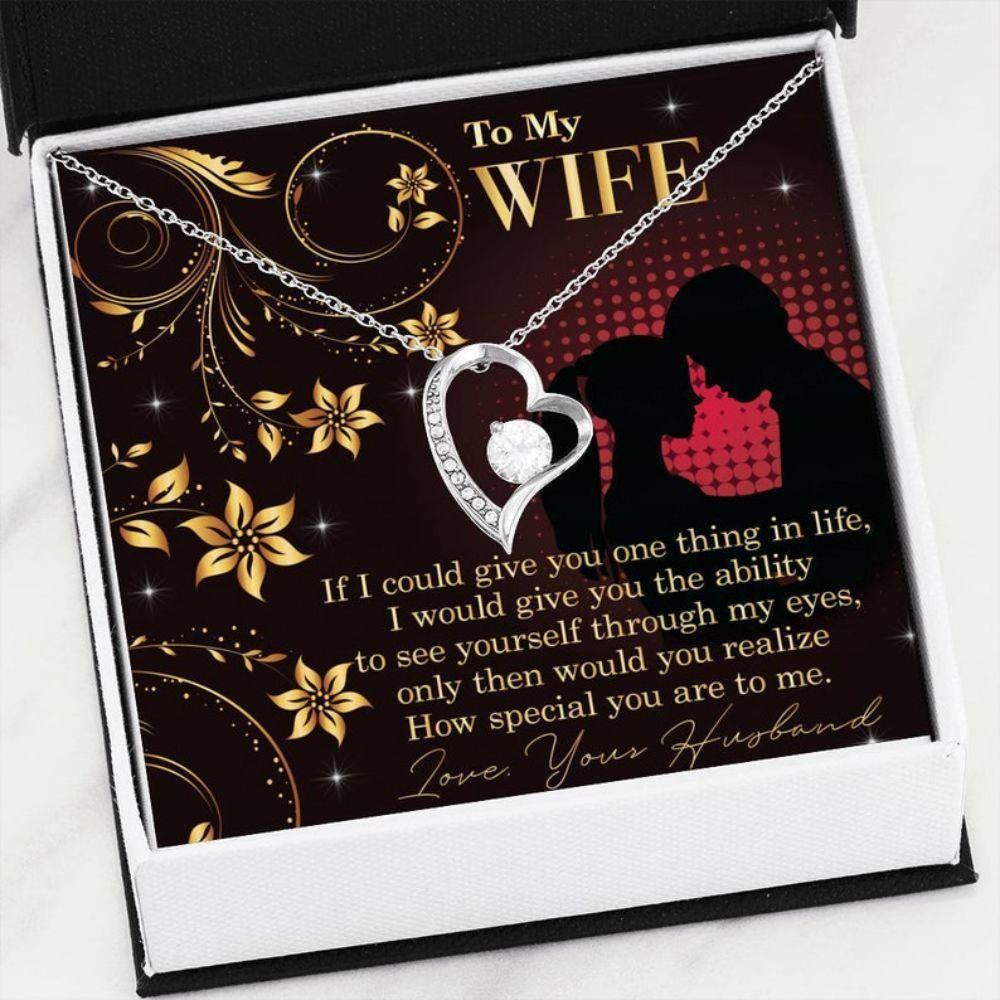 Wife Necklace, Gift For Wife Anniversary, Wife Birthday Necklace Gift, Romantic Gift Wife, Wife Gift, Christmas Day Gift For Wife