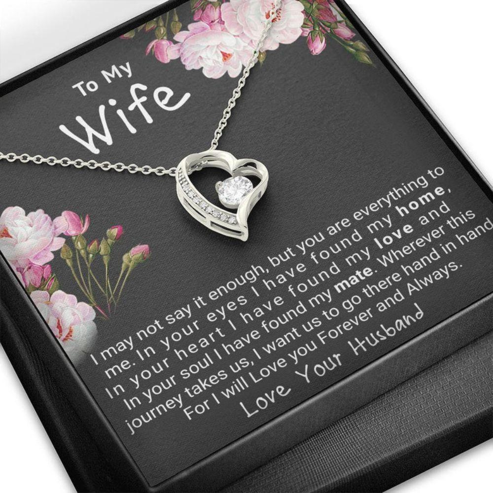 Wife Necklace, Gift For Wife Forever Love Necklace, Christmas Gift For Wife, On Her Birthday Gift, Anniversary Necklace Gift To My Soulmate