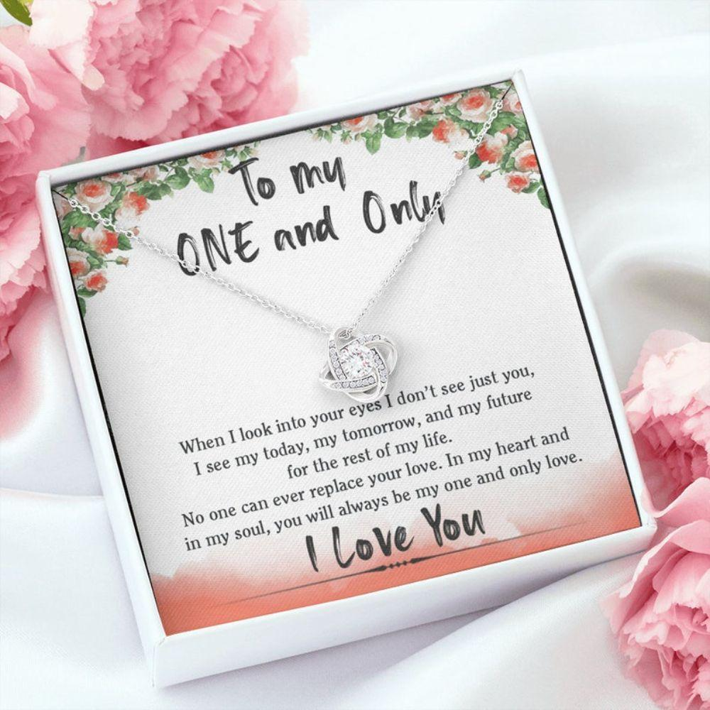 Wife Necklace, Girlfriend Necklace, To My One And Only Necklace, Xmas Gift For Wife, Anniversary Necklace Gift For Girlfriend, Fianc�