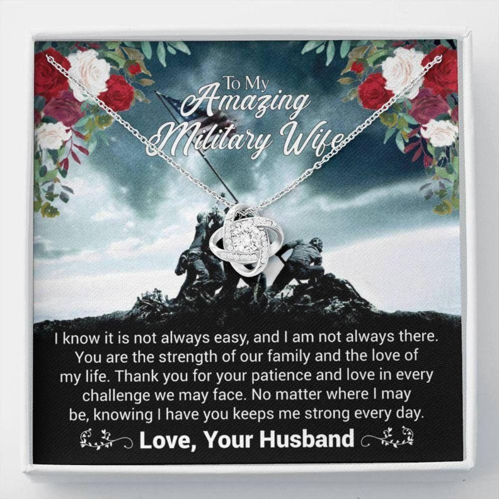 Wife Necklace, Military Wife Gift - Army Wife Necklace - Military Wife Necklace - Necklace With Card