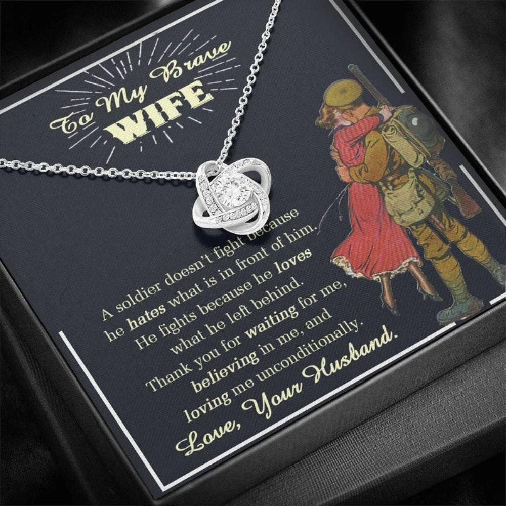 Wife Necklace, Military Wife Necklace, Deployment Necklace, Deployment Gift For Wife, Military Wife Gift, Army Wife Gift, Veteran Day Gift For Wife