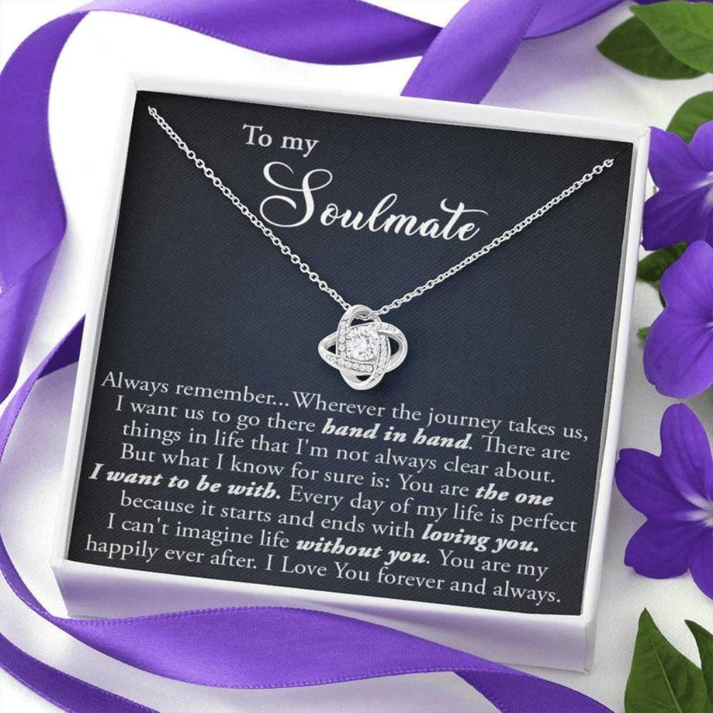 Wife Necklace, Soulmate Jewelry, Long Distance Relationship Gift For Her, Romantic Soulmate Necklace, Unique Gift For Girlfriend