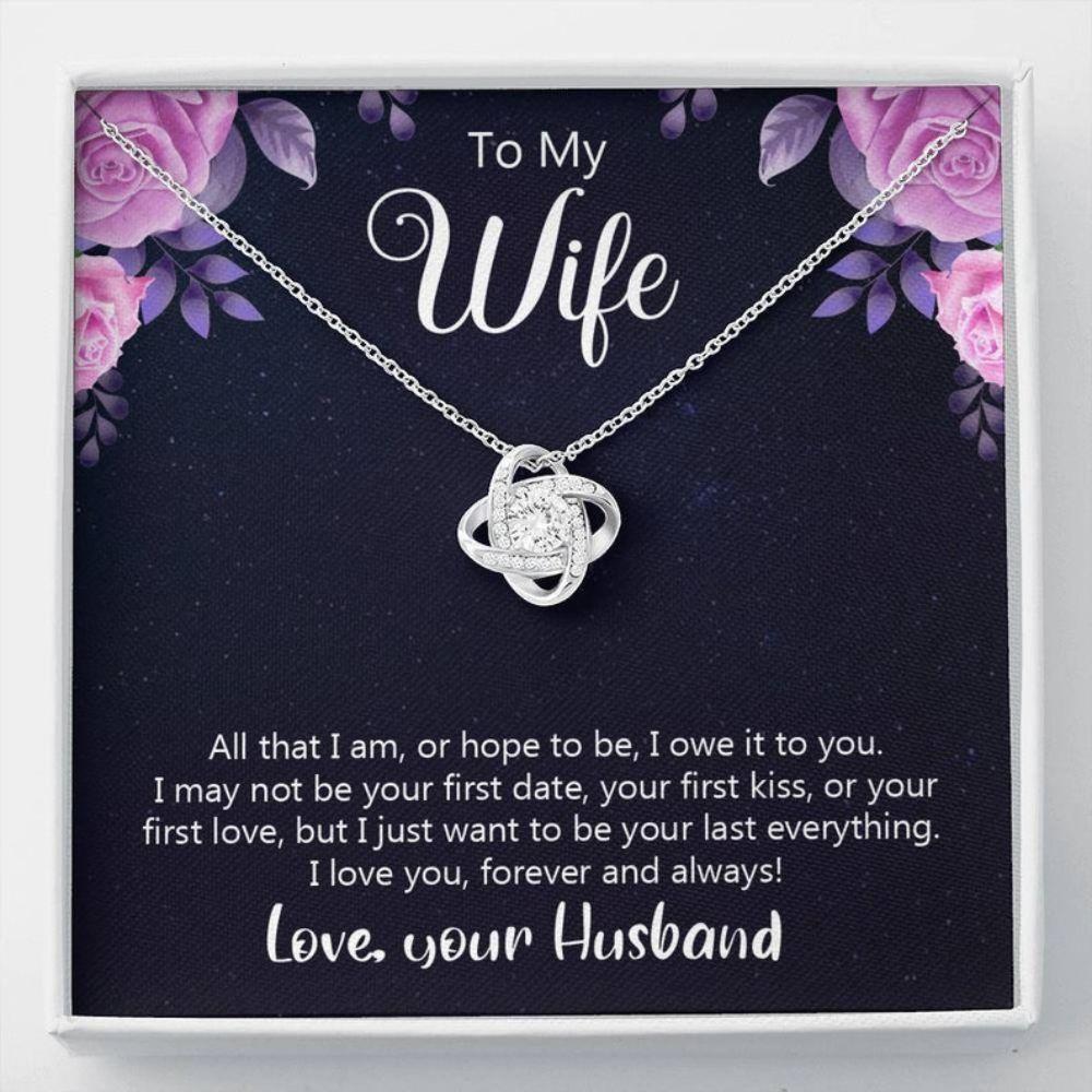 Wife Necklace, Sweet Wifey Gift - Romantic Keepsake - Inspirational Wife - Life Partner Gift