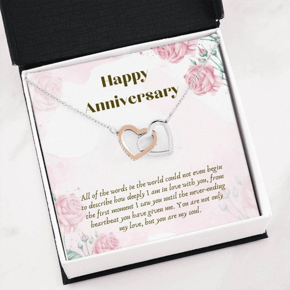 Wife Necklace, WIFE Anniversary Necklace Gift - Necklace For Wife - Love Gift For Her - Wife Appreciation
